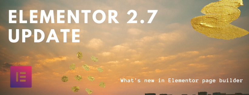 Update Elementor 2.7 Featured Image