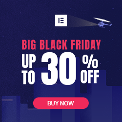 Black Friday 30% off Elementor