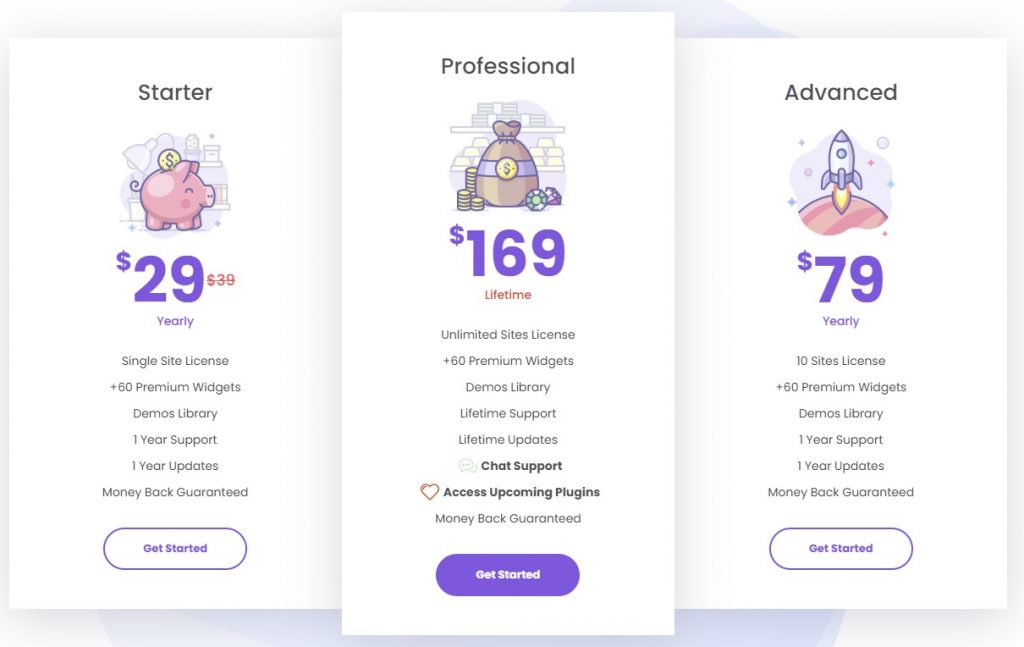 Booster Addons PRO for Elementor Pricing and Plans