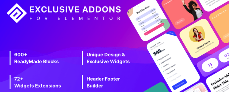 Introducing Exclusive Addons - Featured Image