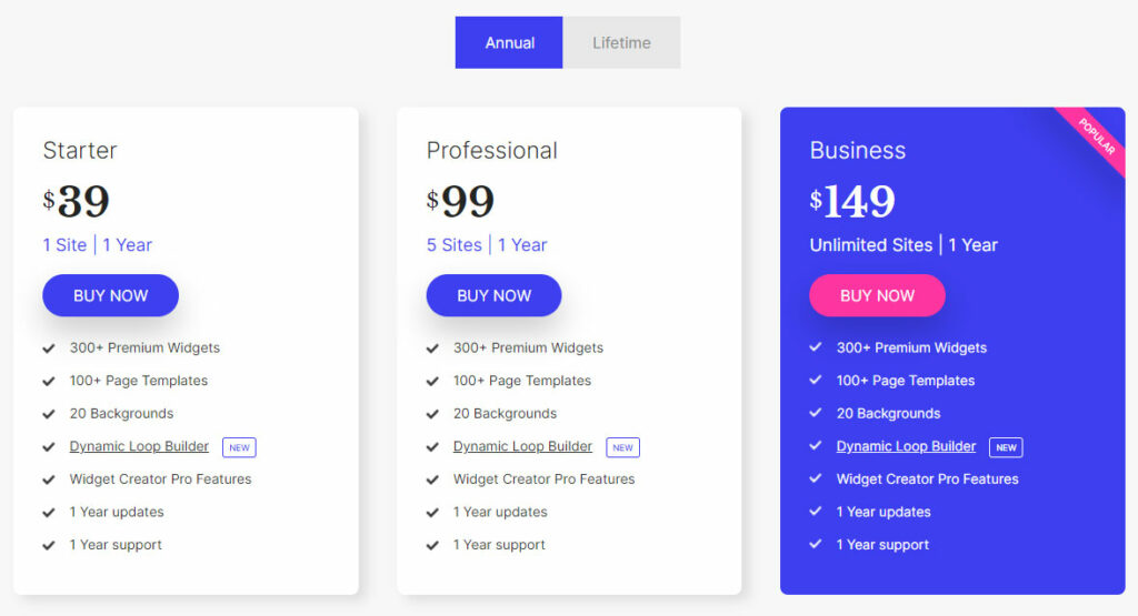 Unlimited Elements Pricing and Plans